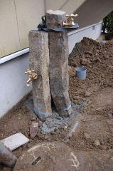 立水栓製作中